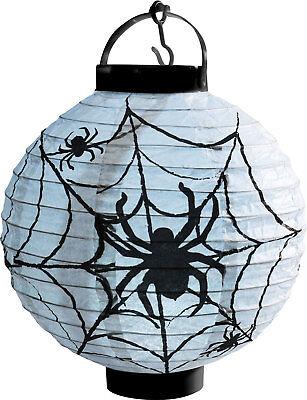 Leuchtende Spinnennetz Laterne mit LED NEU - Partyartikel Dekoration Karneval Fa