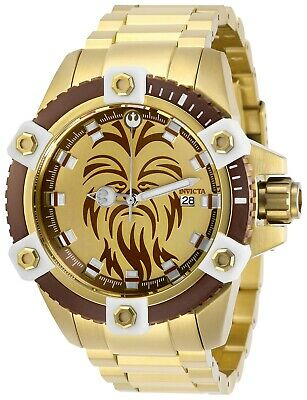Invicta 27433 Star Wars Men's 48mm Automatic Gold-Tone Brown/Gold Dial Watch