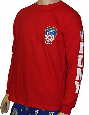 Feet Long Sleeve - FDNY Long Sleeve Officially Licensed Keep Back 200 Feet T-Shirt Red