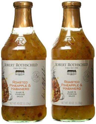Robert Rothschild Farm Roasted Pineapple&Habanero Glaze&Finish Sauce (2 PACK