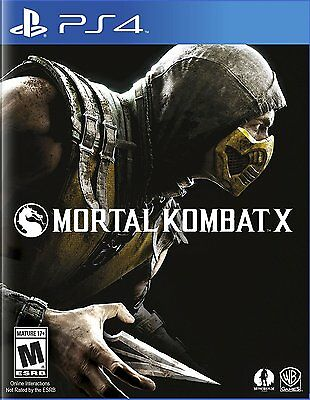 Mortal Kombat X - PlayStation 4 Brand New Ps4 Games Sony Factory Sealed