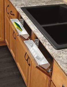 Shelf Kitchen Sink Front Tray Tip Out Hinges Cabinet Storage Organizer  Drawer