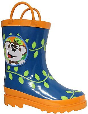 Puddle Play Boy's Monkeyin' Around Rain Boots - (Toddler / Little Kids) GNR61129