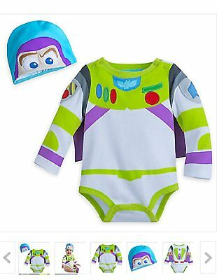 Disney Store Toy Story Buzz Lightyear Baby Boy Costume Bodysuit Size 18/24 Month