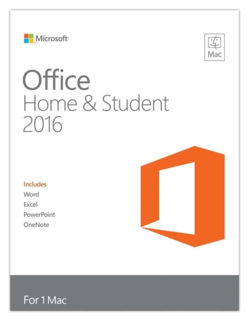 Microsoft Office 2016 Home and Student 1 PC - Licence Download (No CD) MAC