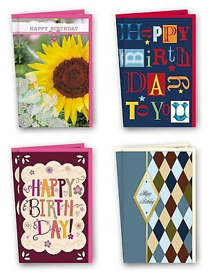 Assorted Birthday Cards Bulk Card Set of 8 Cards with Envelopes. Large...