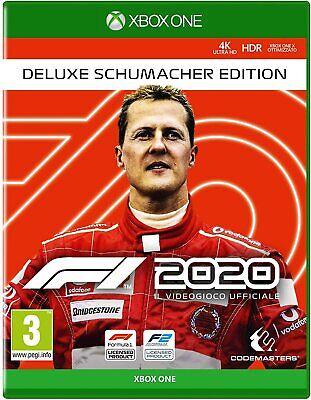 F1 2020 Deluxe Schumacher Edition XBOX ONE(NO CD/KEY) 5 sec Spedizione