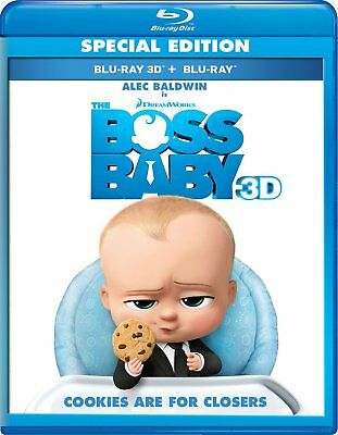 The Boss Baby  3D Blu Ray Disc Only  2017