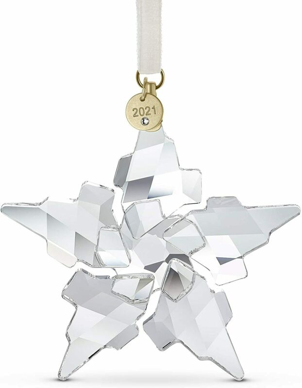 Swarovski Crystal 2021 ANNUAL EDITION LARGE CHRISTMAS ORNAMENT AUTHENTIC 5557796