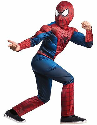 NEW Youth Toddler Kids Boys Halloween Spiderman Costume Muscle Chest (Toddlers Spiderman Costume)