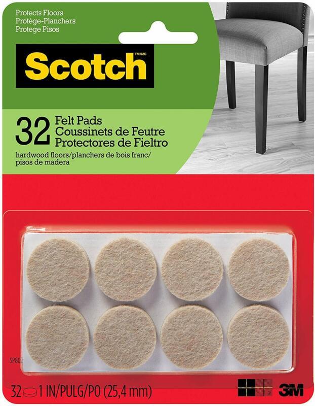 Scotch Brand SP802-NA Felt Pads Premium Quality, By 3M, for