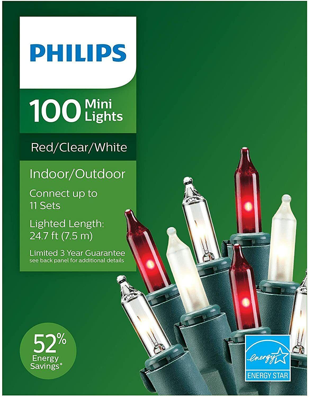 Philips 100ct Incandescent Mini String Lights Christmas/Wedd