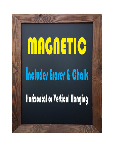"Tektrum Rustic Wood Magnetic Wall Mounted Chalkboard 18""x24""-Natural Wood Finish"