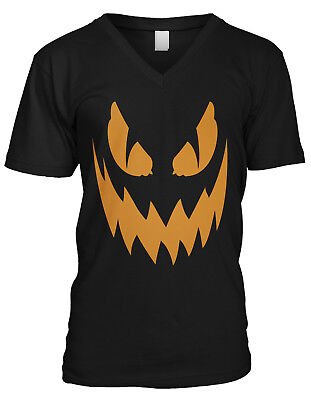 Scary Halloween Pumkins (Scary Jack-o-Lantern Pumkin Face - Halloween Trick or Treat Mens V-neck)