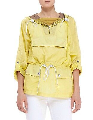 Authentic New Burberry Brit Yellow Packaway Pullover Rain Jacket Size L $595.00