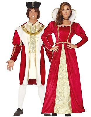 Paar Damen & Herren King Queen Tudor Historisches Kostüm ()