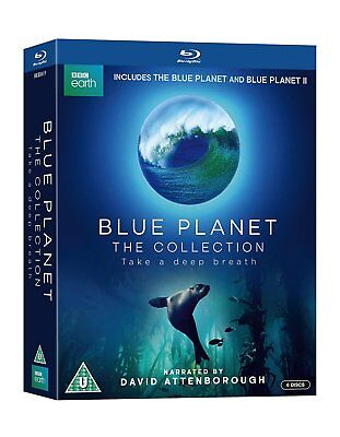 Blue Planet   The Collection  Blu Ray  6 Discs  Region Free   New Sealed