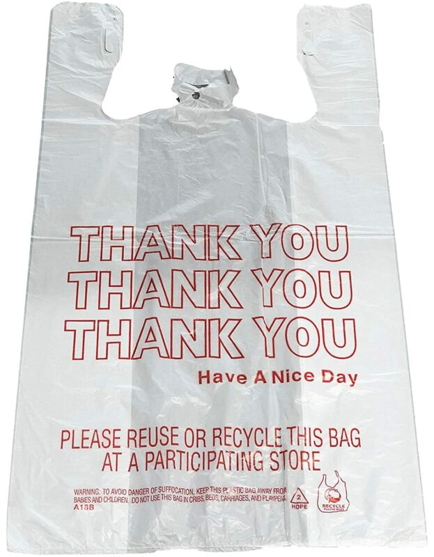 Reli. Thank You T-Shirt Bags (350 Count), Plastic - Bulk Shopping Bags