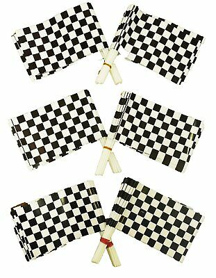 Dazzling Toys Plastic Racing Checkered Flags - Pack of 72 - Plastic Checkered Flags