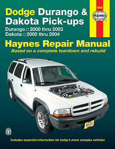 30022-Repair-Manual-fits-2000-2004-Dodge-Dakota-Dakota-Durango-HAYNES