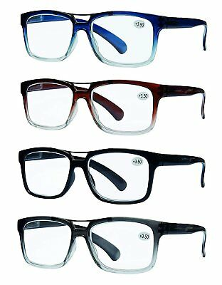 READING GLASSES 4 Pack Unisex Best Value Top Bar Style Quality Men and (Best Pack For Women)
