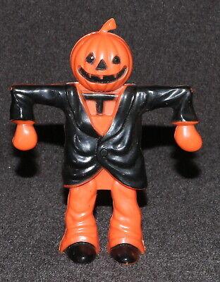 "Halloween Pumpkin Scarecrow Jack-o-lantern 5"" Candy Holder Rosbro"