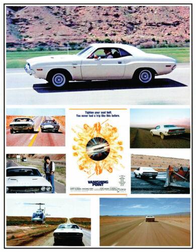 "Vanishing Point Kowalski Dodge Challenger 24""x32"" Poster. Mopar Chase"