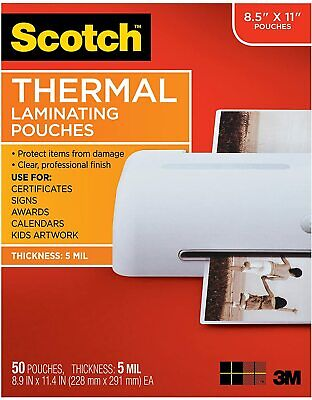 Scotch 5mil. Laminating Pouches 8.5x11 10 Sheets Pieces Included