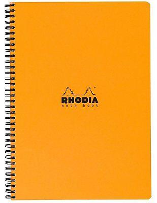 Rhodia Wirebound - Notebook - Orange - Lined with Margin - 9 x 11.75 NEW R193108
