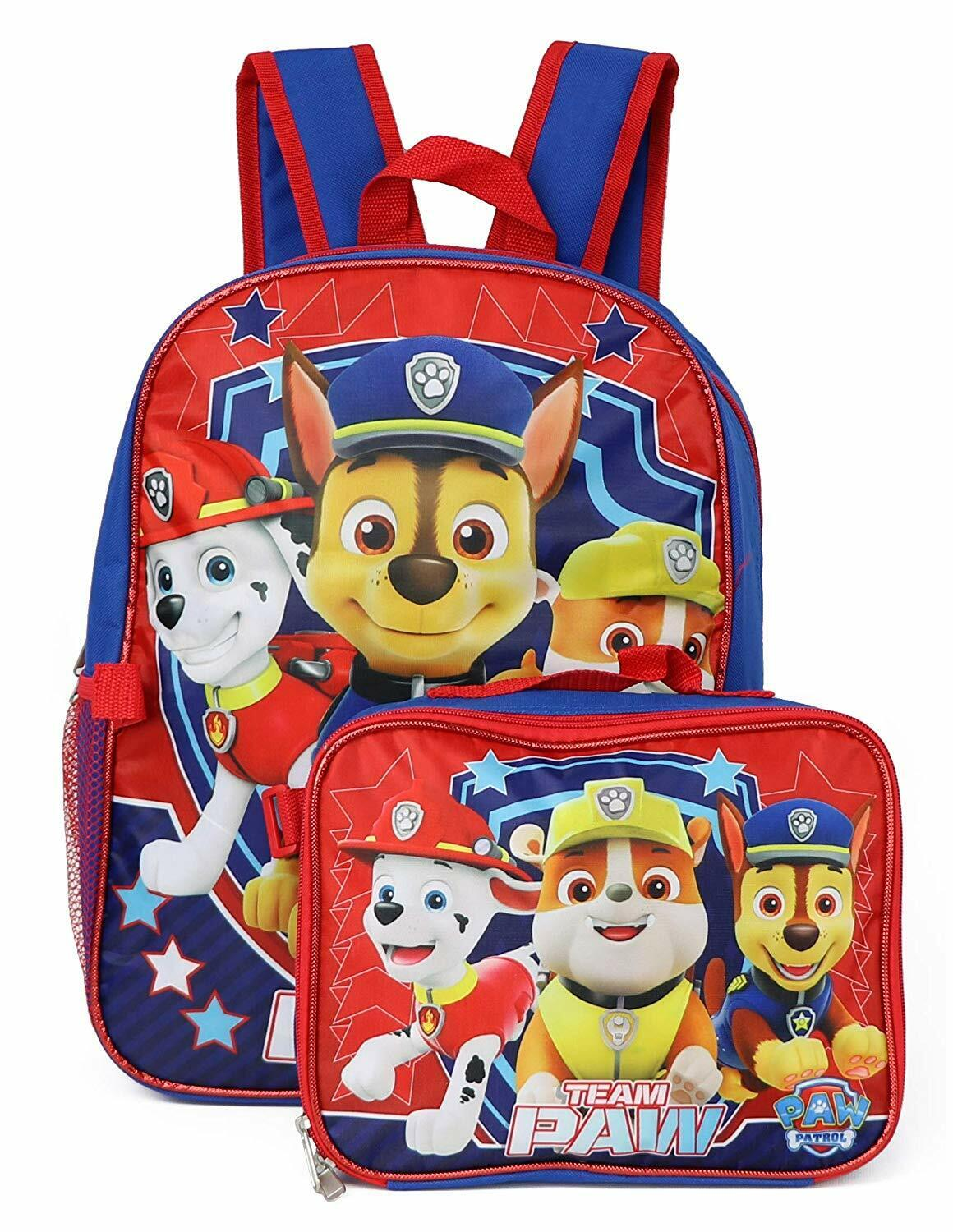 Backpack With Lunch Box PAW Patrol For Boys Girls - Mochila