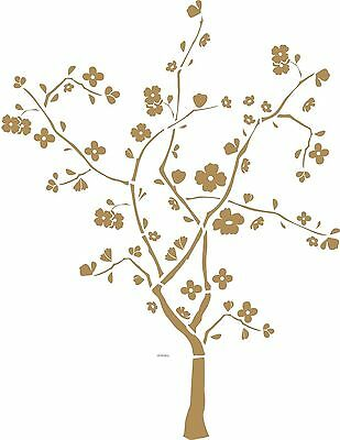 Stick Mini Mural (Cherry Blossom Tree Mini Mural Peel and Stick Appliques RMK1165GM )