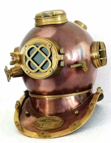 Antique Navy London Morse Diving Helmet Scuba Boston Divers Mark Divers Deep Sea