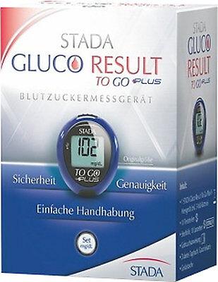 Stada Gluco Result to go plus Blutzuckermessgerät mg/dl ohne Teststreifen