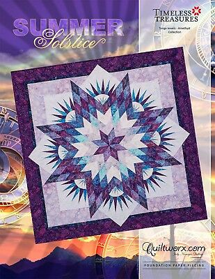 Summer Solstice New for 2018 Paper Piecing Judy Niemeyer Quilt Pattern](Crafts For Summer)