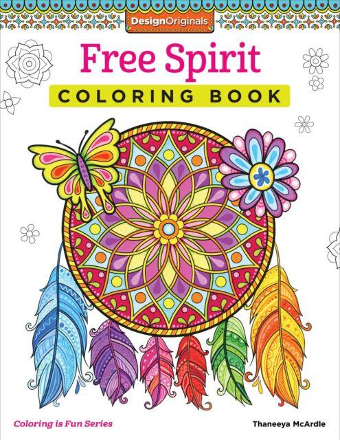MALBUCH für ERWACHSENE ★ FREE SPIRIT ★ Entspannende Zen Kunsttherapie Malbuch