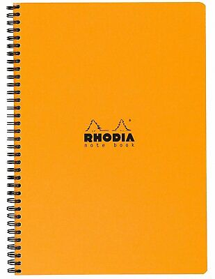 Rhodia Wirebound Notebook 8 14 X 11 34 Lined With Margin Orange