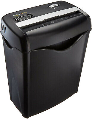 Amazonbasics 6-sheet Cross-cut Paper And Credit Card Home Office Shredder Free S