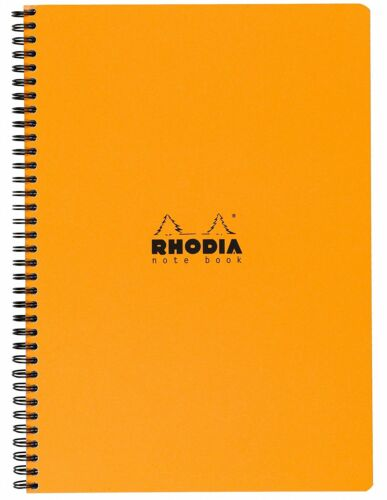 Rhodia Wirebound Notebook 8 1/4 x 11 3/4 Graph Orange