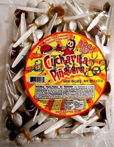 Cucharitas Pinatera Tamarind Flavored Mexican Candy Spoon 100 pcs Tamarindo