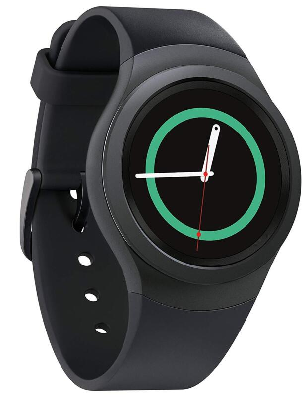 Samsung Gear S2 Smartwatch 44mm Ceramic Black Elastomer (AT&T) SM-R730VZKAVZW
