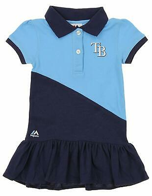 Majestic MLB Girl's Tampa Bay Rays Good Sport Polo Dress - Majestic Sporting Goods