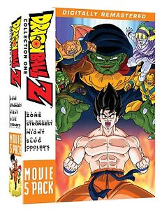 Dragon Ball Z Remastered Movie Collection One Volume 1, 2, 3, 4, & 5 DVD Box Set