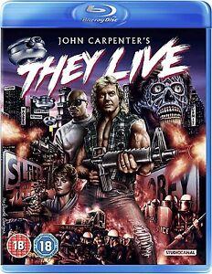 BLU-RAY  THEY LIVE ( JOHN CARPENTER )    BRAND NEW SEALED UK STOCK