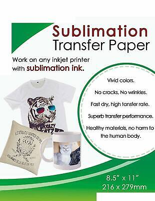 50 Sheets Sublimation Ink Transfer Paper 8.5x11 A4 Epson All Inkjet Printers