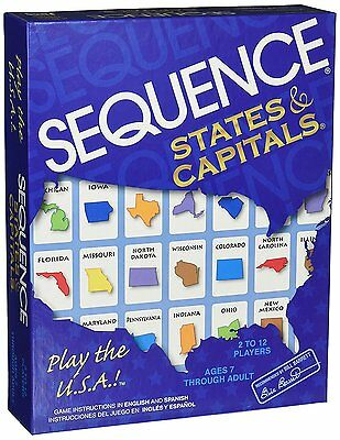 Jax Sequence States and Capitals Board Game COMPLETE Brand New SEALED Ships FREE