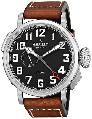 Zenith Pilot Type 20 GMT Automatic Men's Watch 03.2430.693/21.C723 (Black dial)
