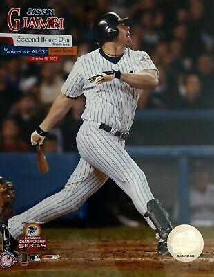 JASON GIAMBI 2003 ALCS Game 7 HOME RUN 8X10 PHOTO New York Yankees 2003 Alcs Game 7