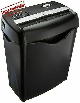 Office Shredder Paper Destroy Crosscut Heavy-duty Cd Dvd Credit Card