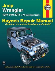 Repair-Manual-Haynes-50030-fits-87-95-Jeep-Wrangler