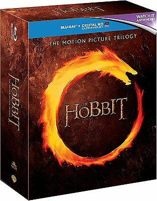 THE HOBBIT Motion Picture Trilogy BLU-RAY Set BRAND NEW Free (Ray Set)